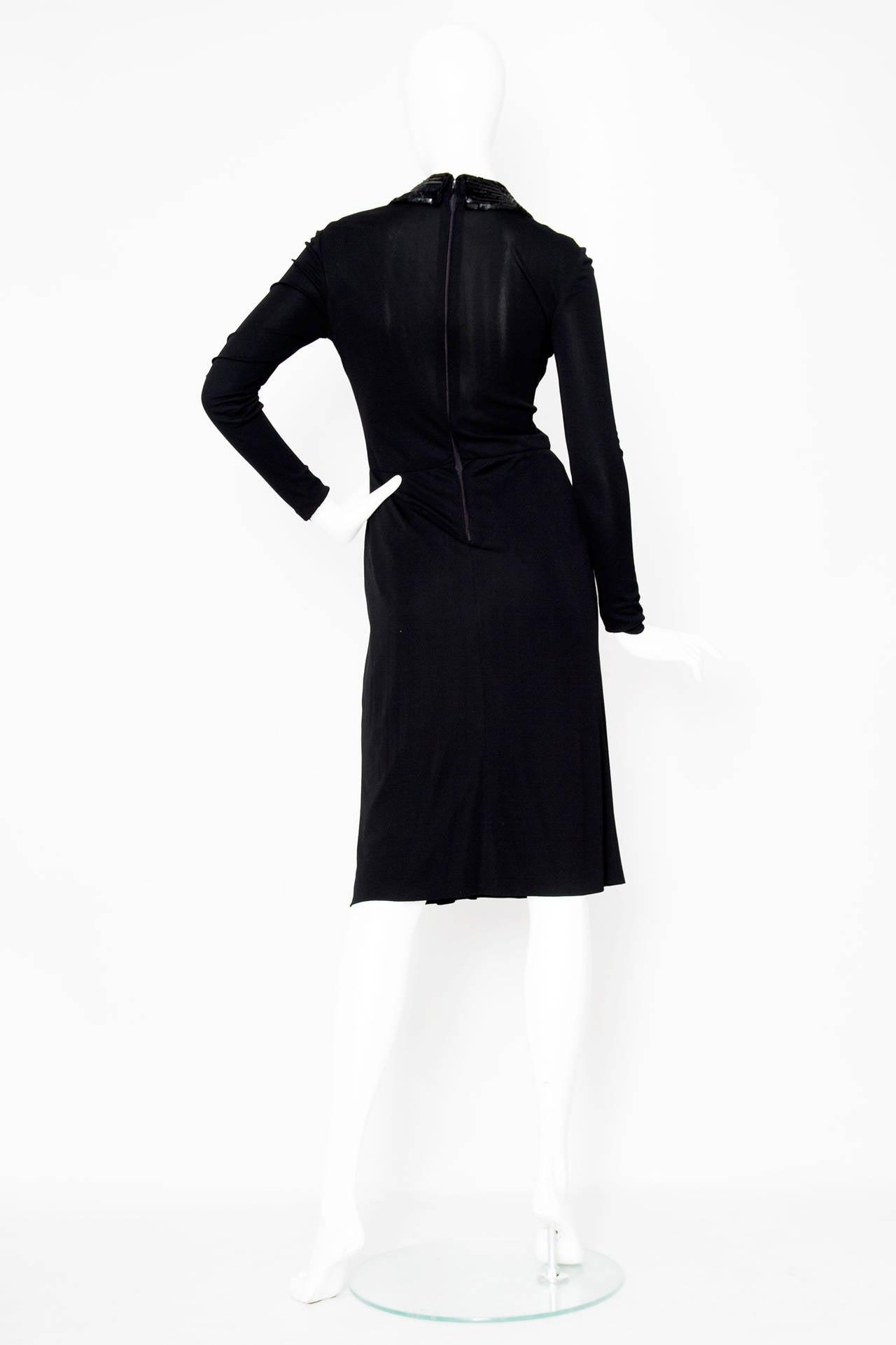 1960s Miss Dior Silk Jersey Evening Dress 4