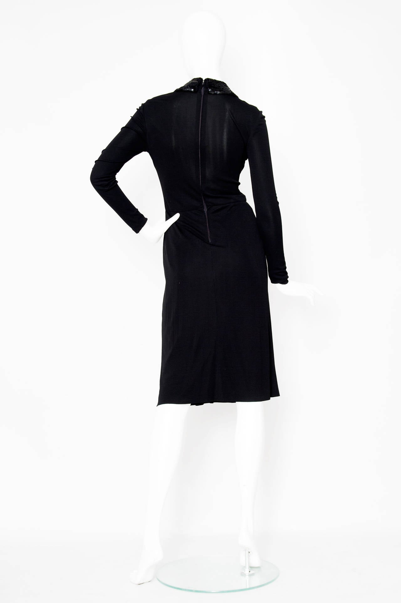 1960s Miss Dior Silk Jersey Evening Dress In Excellent Condition For Sale In Copenhagen, DK