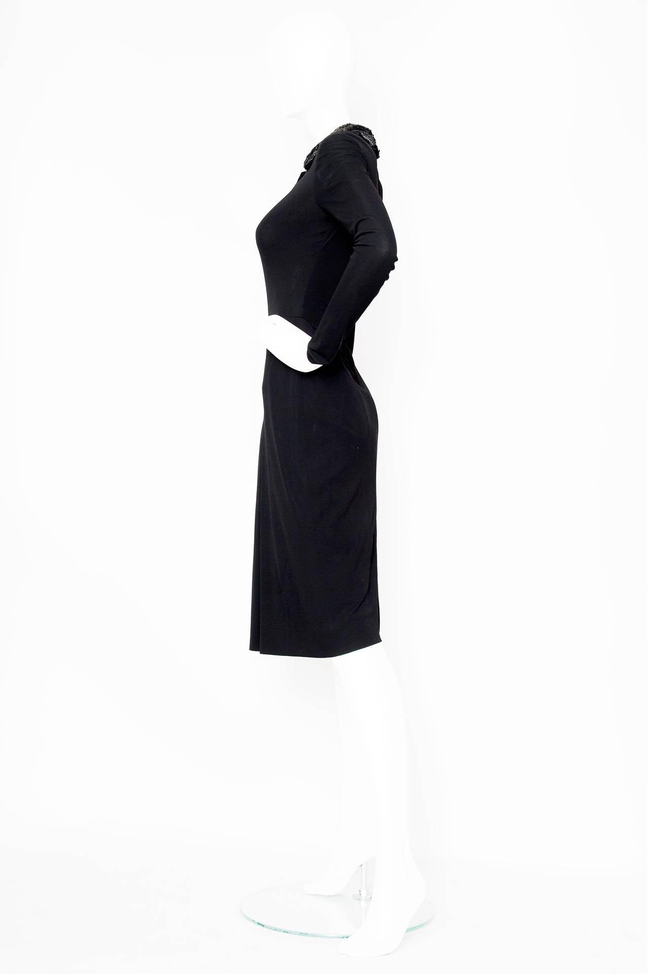 1960s Miss Dior Silk Jersey Evening Dress 3