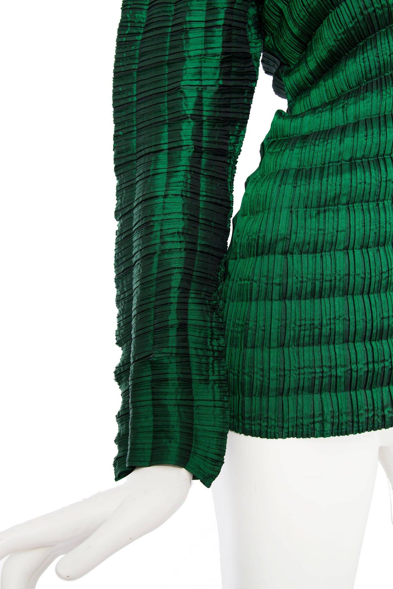 Womens Emerald Green Blouse 15