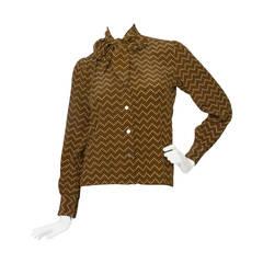 1970s Yves Saint Laurent Silk Shirt