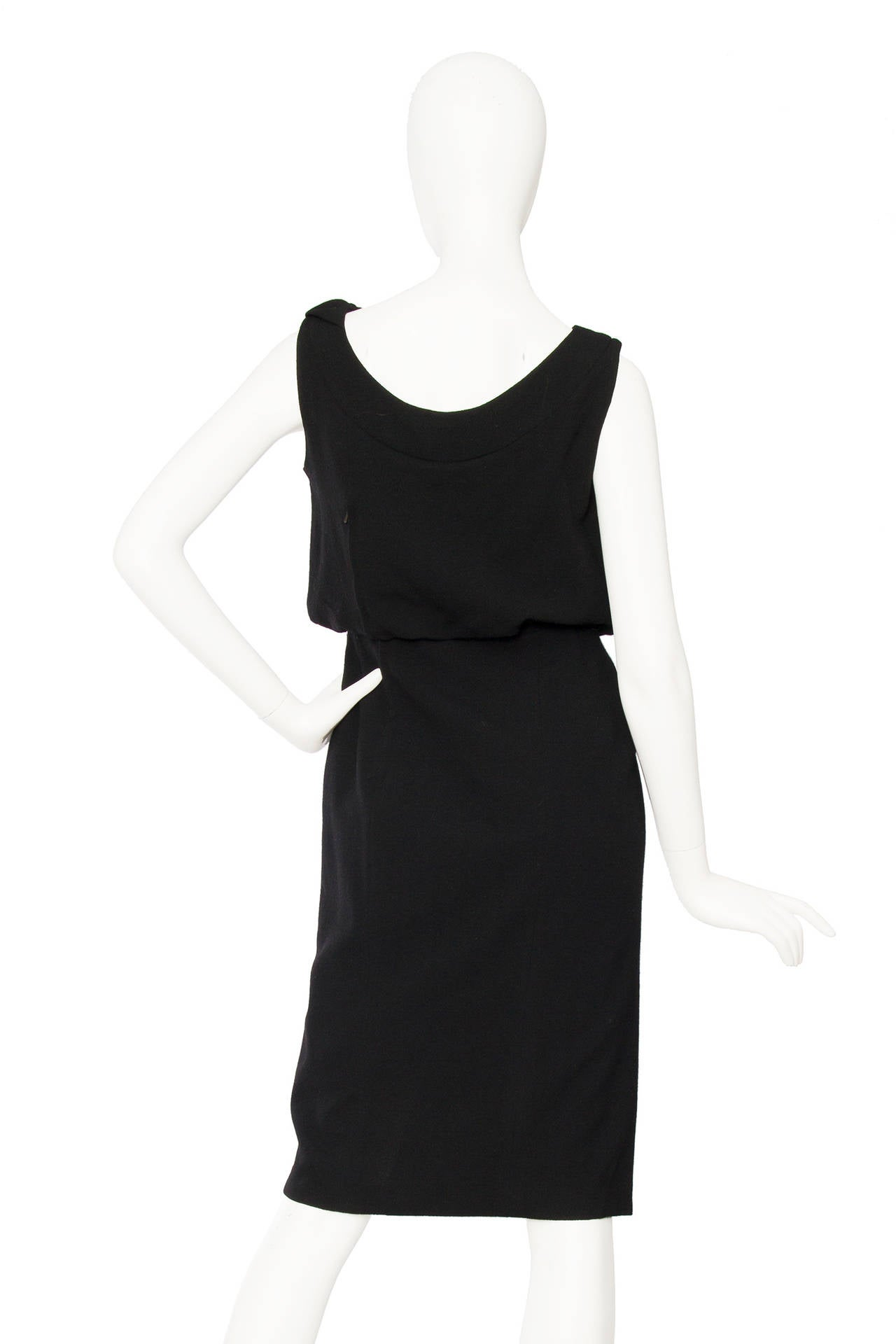 1960s Pierre Balmain Little Black Dress 4