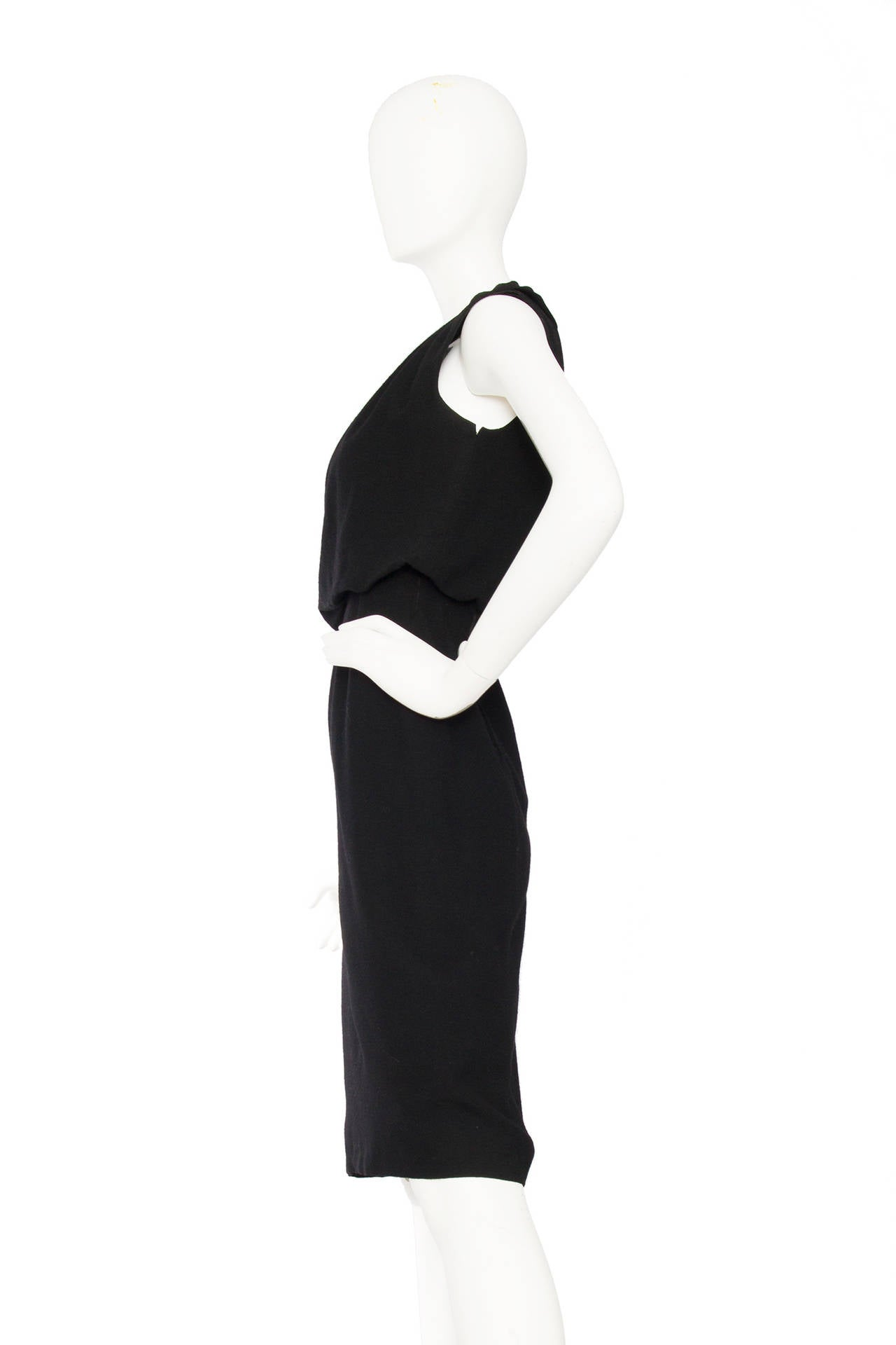 1960s Pierre Balmain Little Black Dress 3