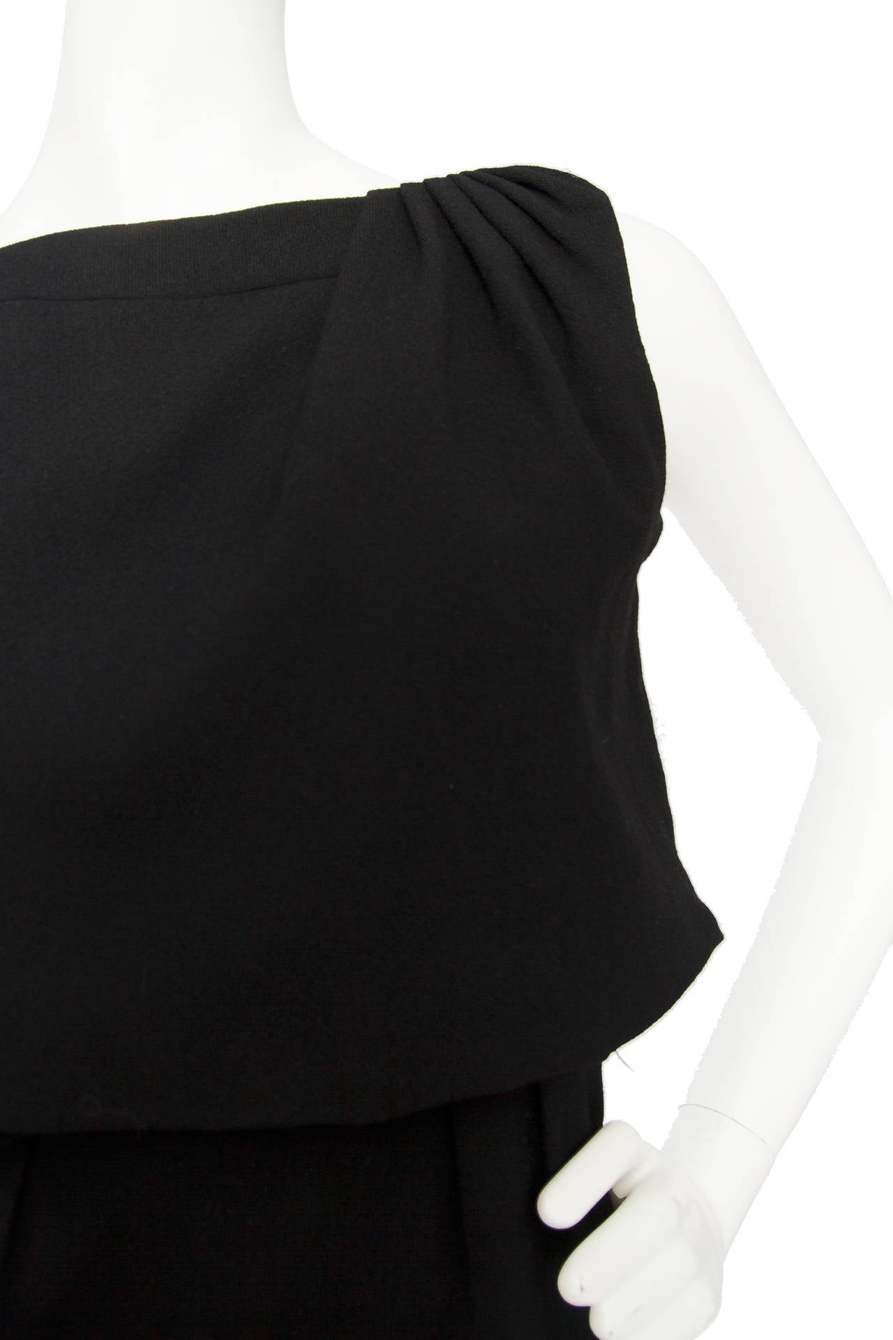 1960s Pierre Balmain Little Black Dress 6