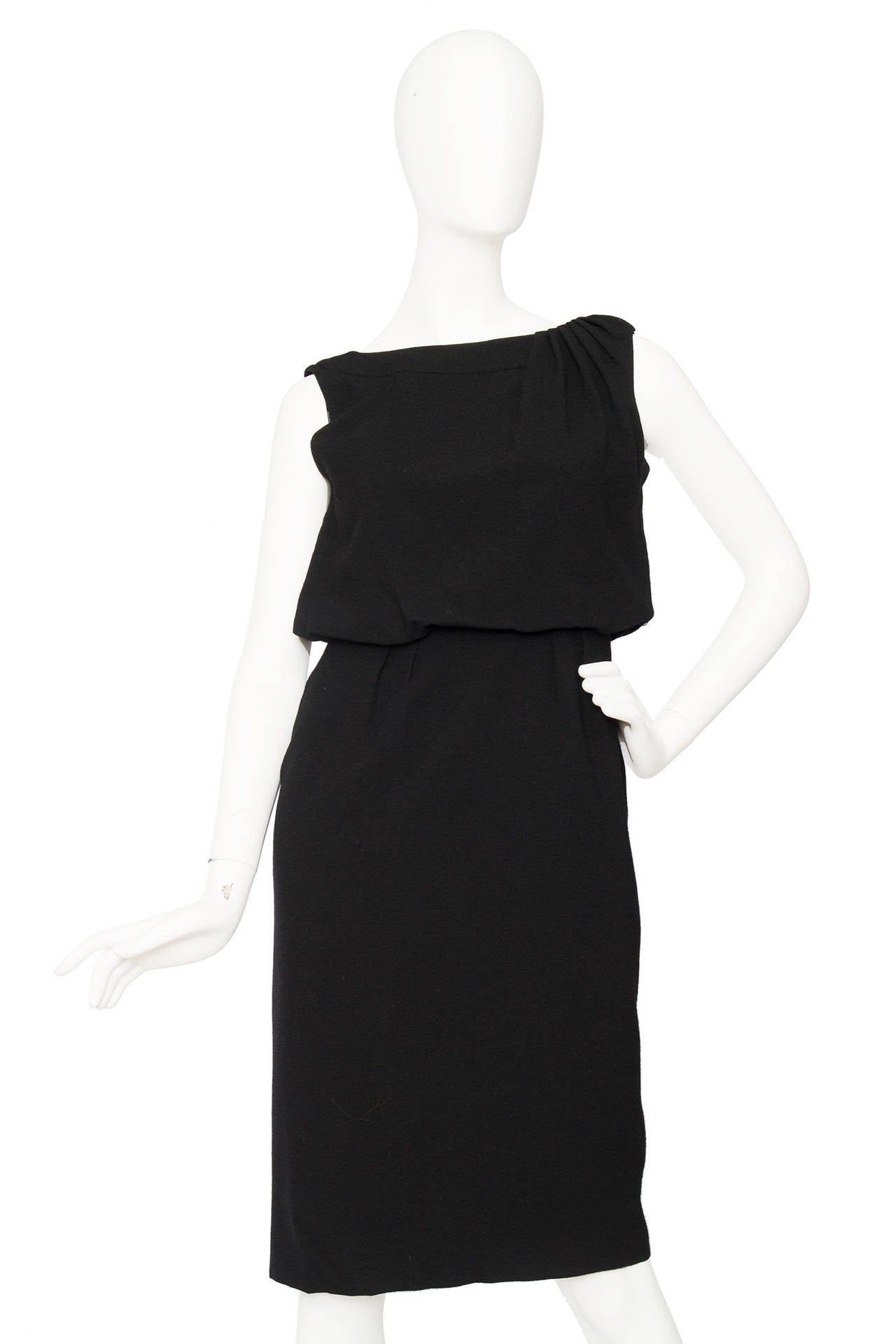 1960s Pierre Balmain Little Black Dress 2