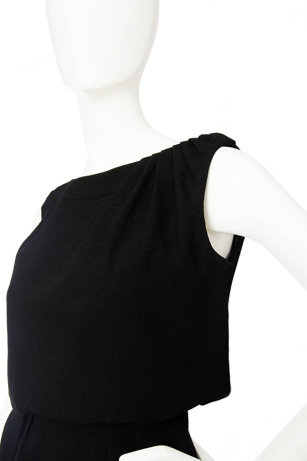 1960s Pierre Balmain Little Black Dress 5