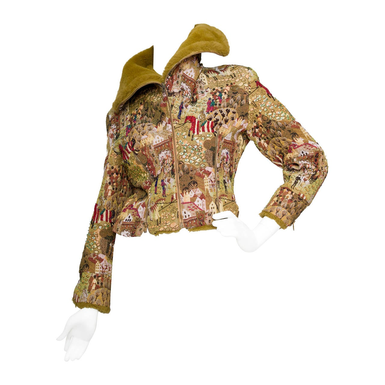 1950s Embroidered Avant Garde Tapestry Jacket by Lilli Ann 1