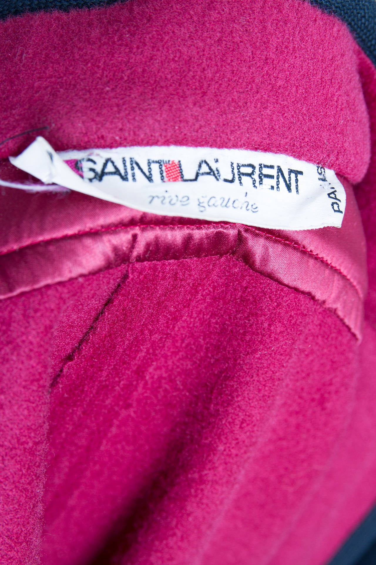 1970s Yves Saint Laurent Burgundy Wool Cape 10