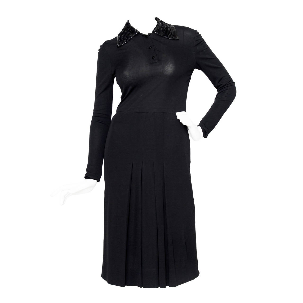 1960s Miss Dior Silk Jersey Evening Dress