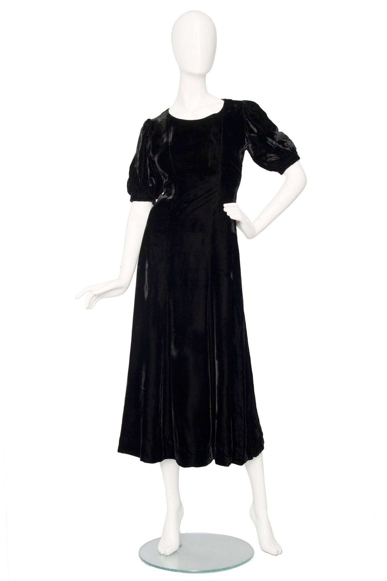 1970s Yves Saint Laurent Silk Velvet Evening Dress 2