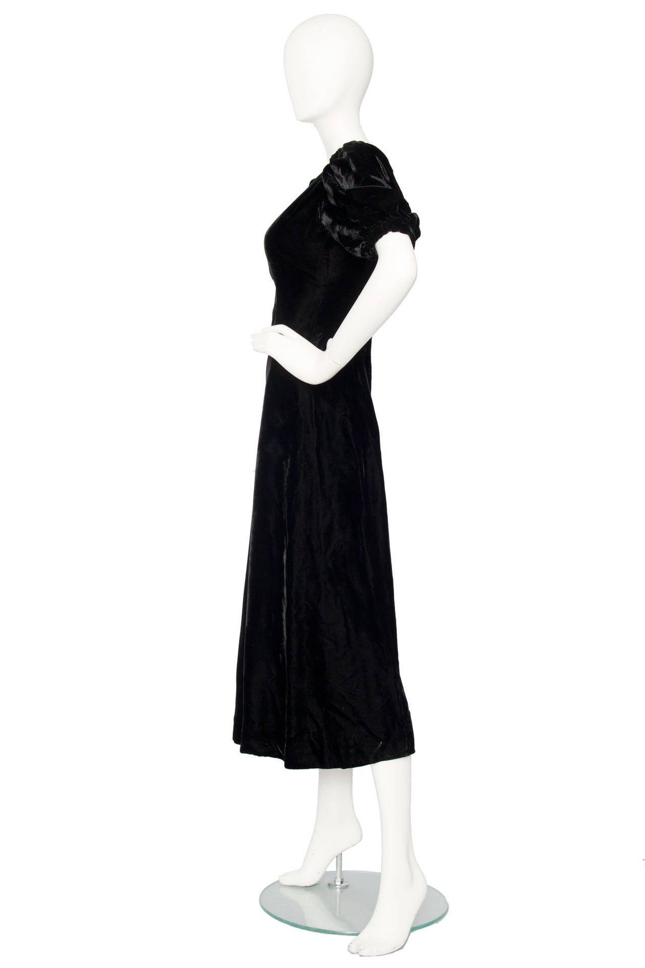 1970s Yves Saint Laurent Silk Velvet Evening Dress 3