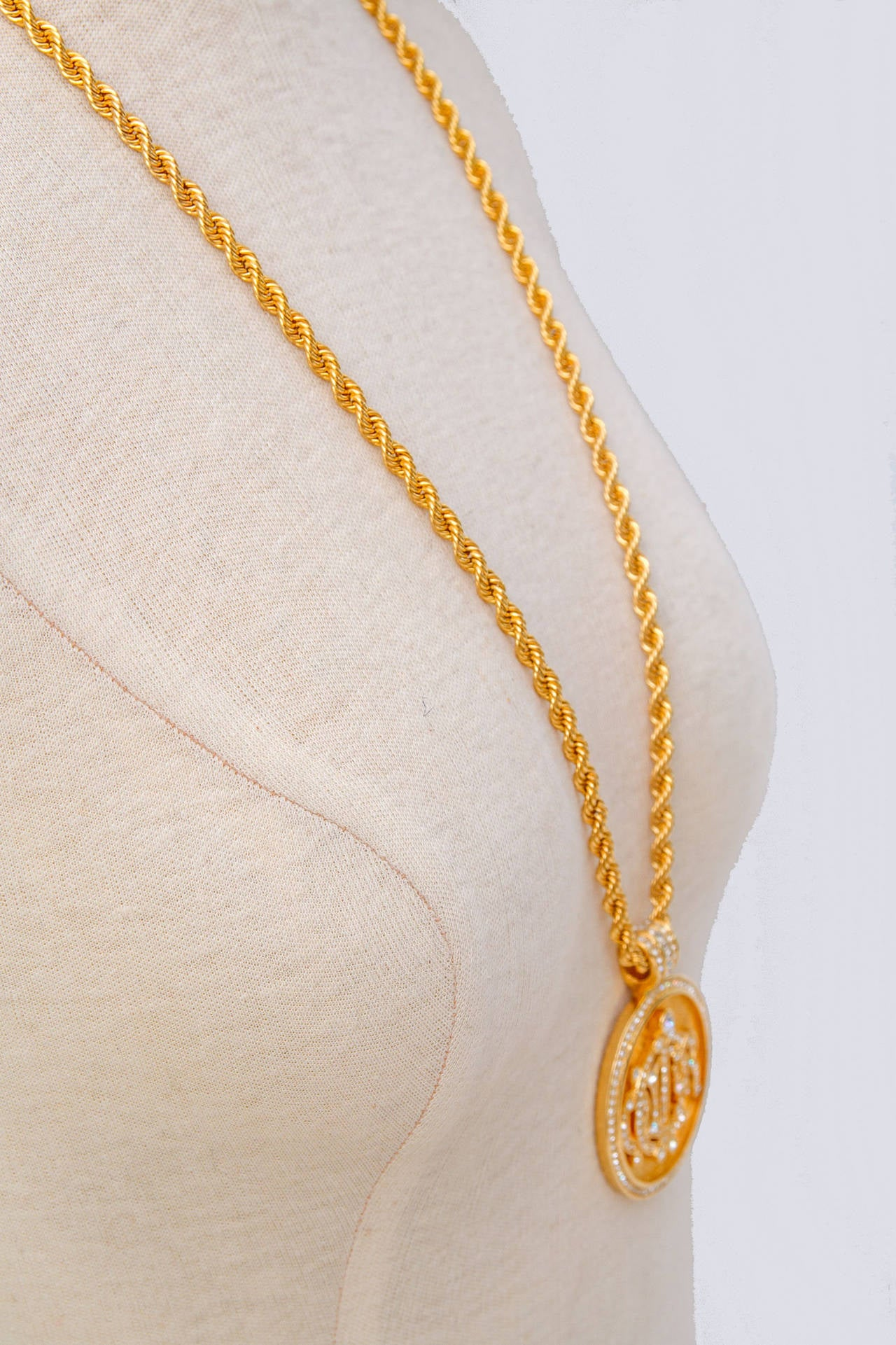 necklace pendant gb chain links gold en london of timeless hires rose vermeil large