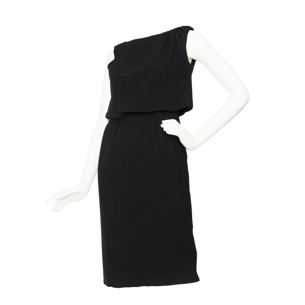 1960s Pierre Balmain Little Black Dress