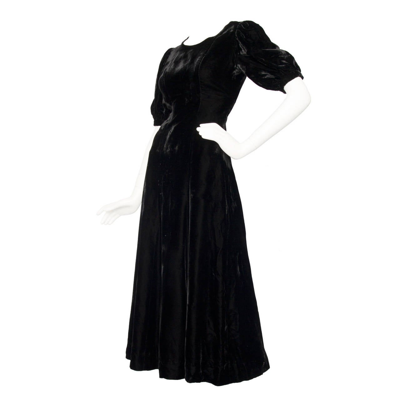 1970s Yves Saint Laurent Silk Velvet Evening Dress 1