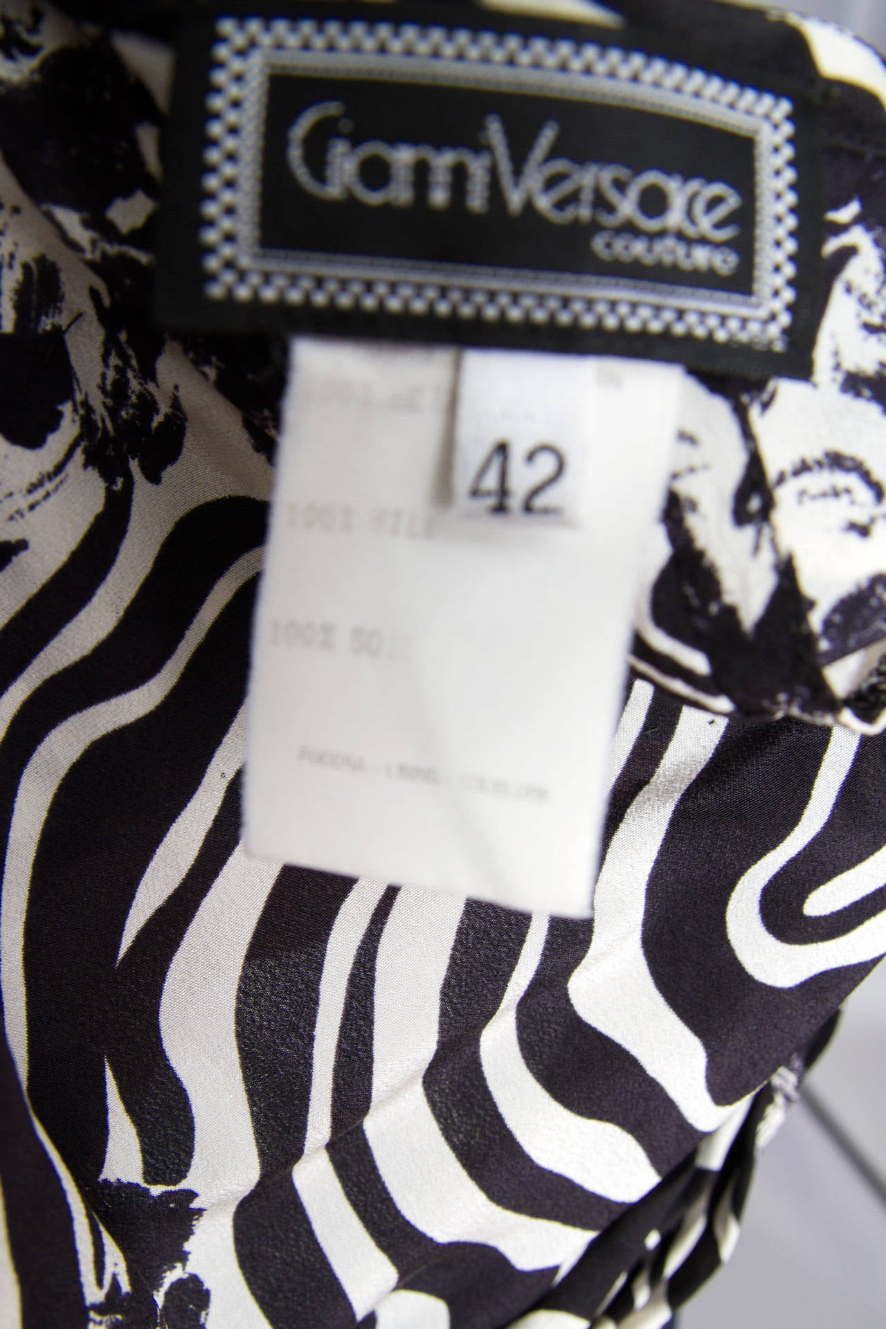 1980s Gianni Versace Monochrome Silk Dress 10