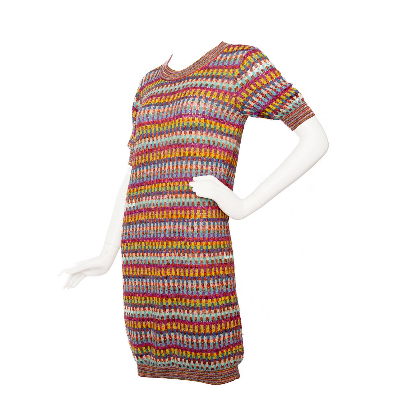 1980s Missoni Knitted Multicolour Dress