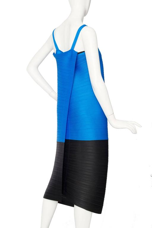 Blue 1980s Pleats Please Dress by Issey Miyake  For Sale