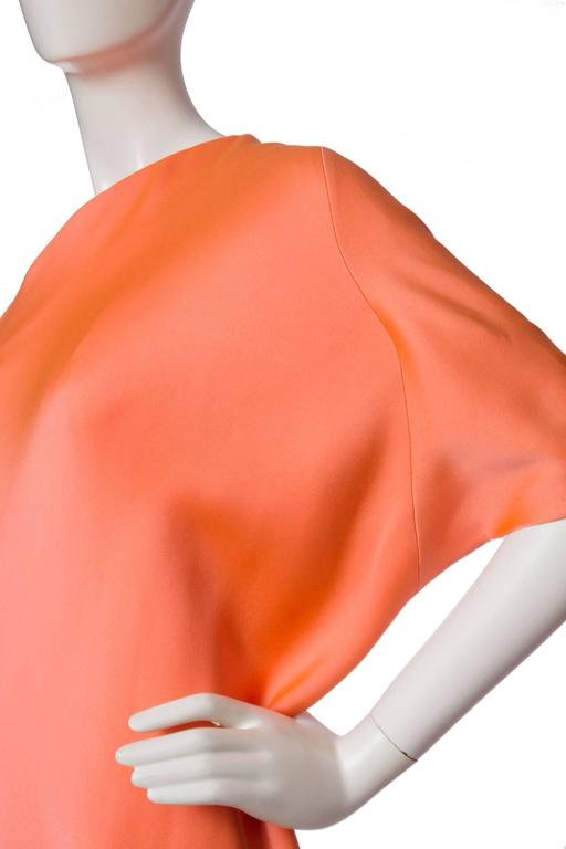 1960s Givenchy Haute Couture Silk Dress For Sale 3
