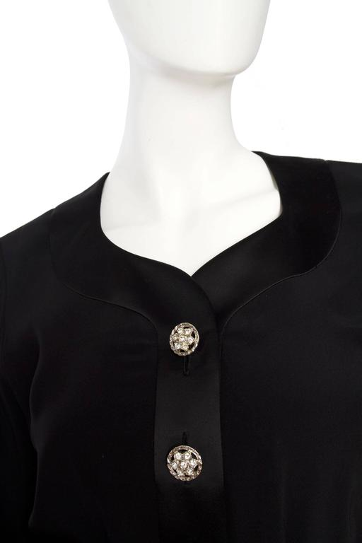 1980s Yves Saint Laurent Little Black Cocktail Dress 8