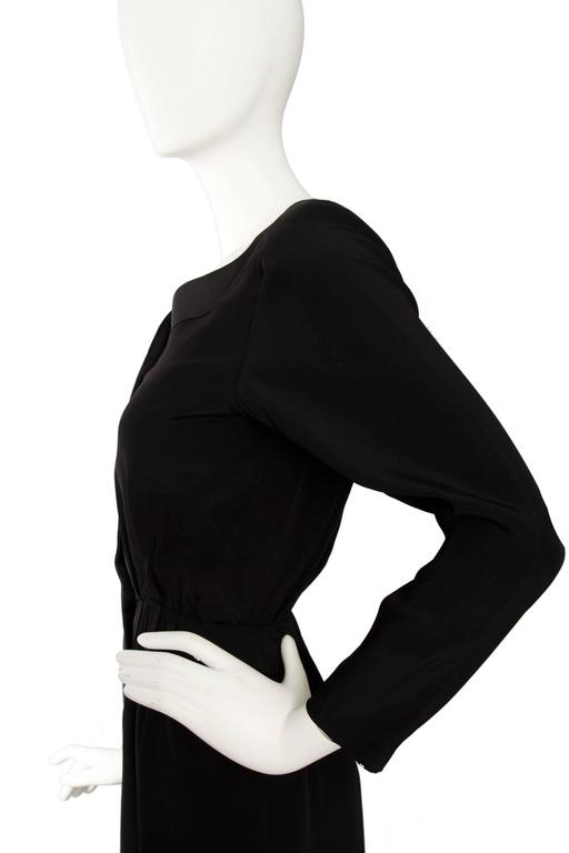 1980s Yves Saint Laurent Little Black Cocktail Dress 6