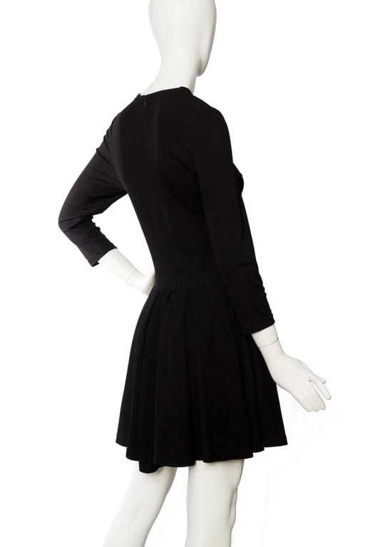 1980s Gianni Versace Little Black Silk Jersey Dress 5
