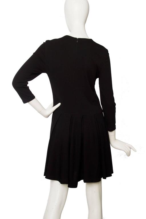 1980s Gianni Versace Little Black Silk Jersey Dress 6