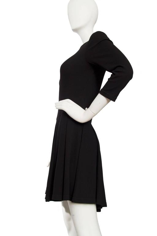 1980s Gianni Versace Little Black Silk Jersey Dress 3
