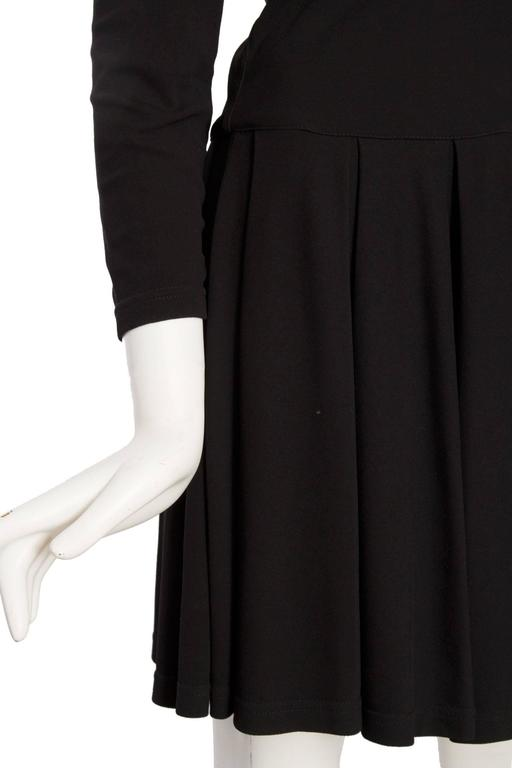 1980s Gianni Versace Little Black Silk Jersey Dress 7