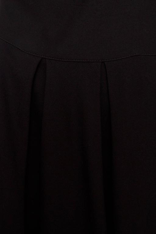 1980s Gianni Versace Little Black Silk Jersey Dress 9
