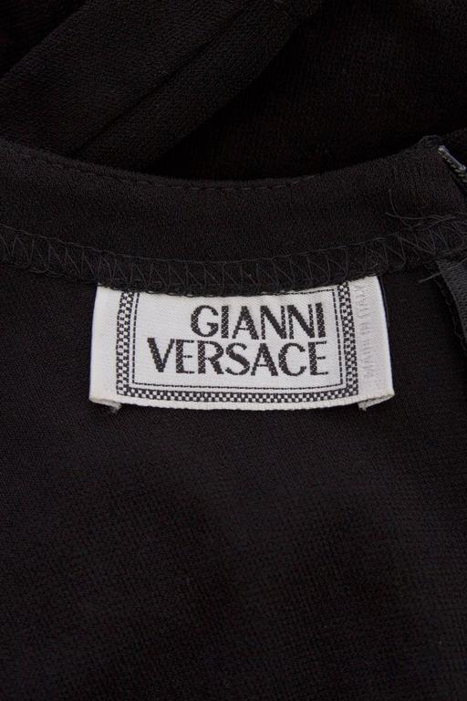 1980s Gianni Versace Little Black Silk Jersey Dress 2