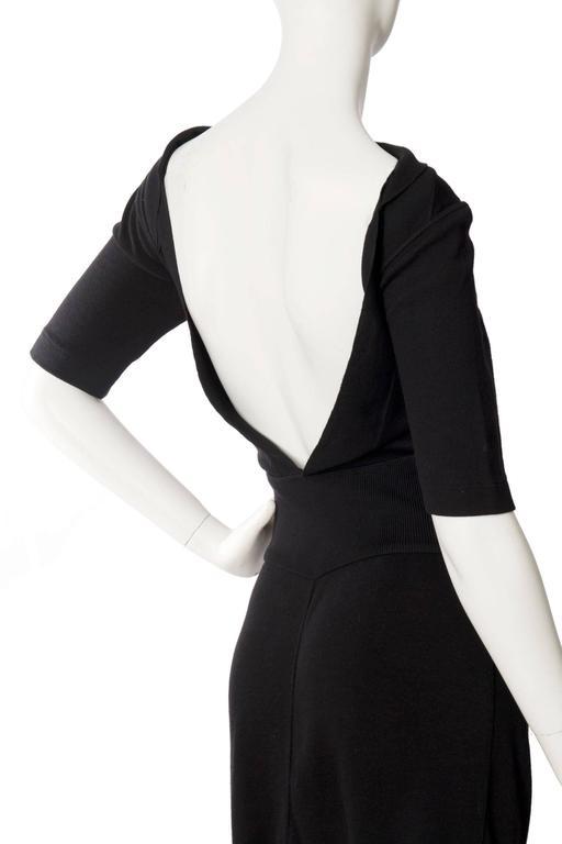 1990s Alaia Little Black Dress 6