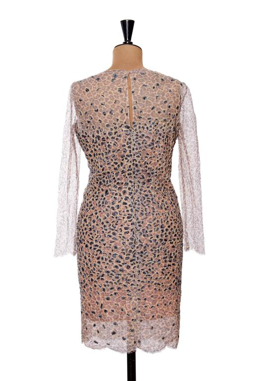 1960s Pierre Balmain Haute Couture Lesage Embroidered Lace Dress 6