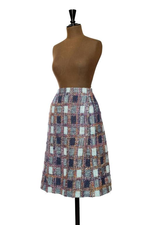 1970s Givenchy Haute Couture Boucle A-line Skirt 4