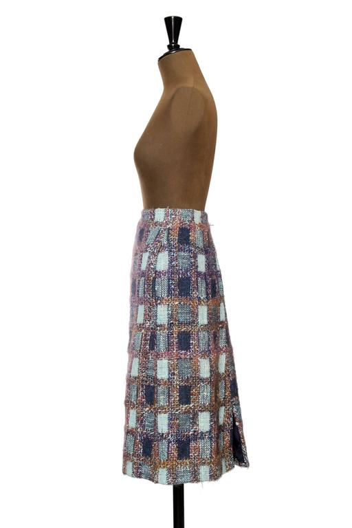 1970s Givenchy Haute Couture Boucle A-line Skirt 5