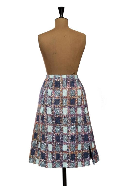 1970s Givenchy Haute Couture Boucle A-line Skirt 6
