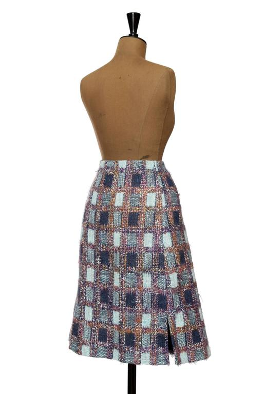 1970s Givenchy Haute Couture Boucle A-line Skirt 7