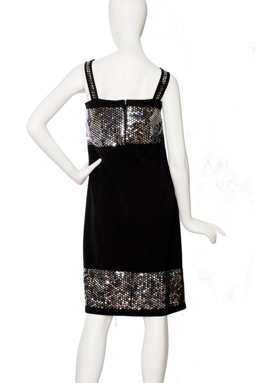 Women's 1990s Dolce & Gabanna Black Wool & Silver Sequin Dress For Sale