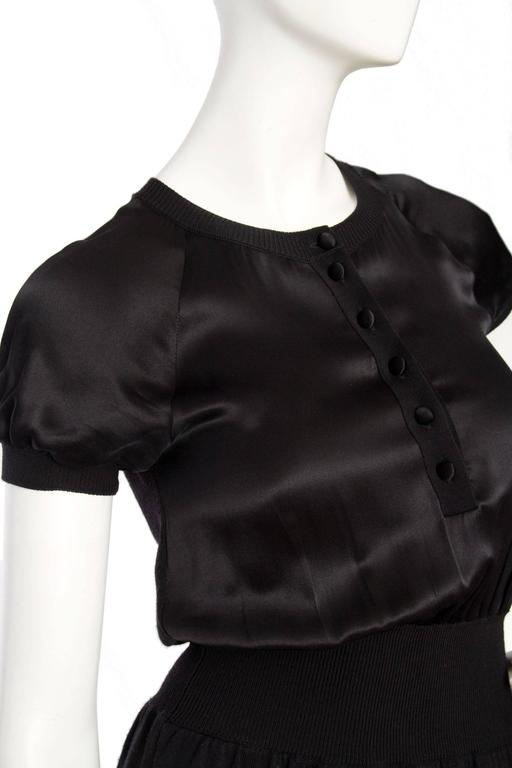 Yves Saint Laurent '08 Wool & Silk Satin Dress 6