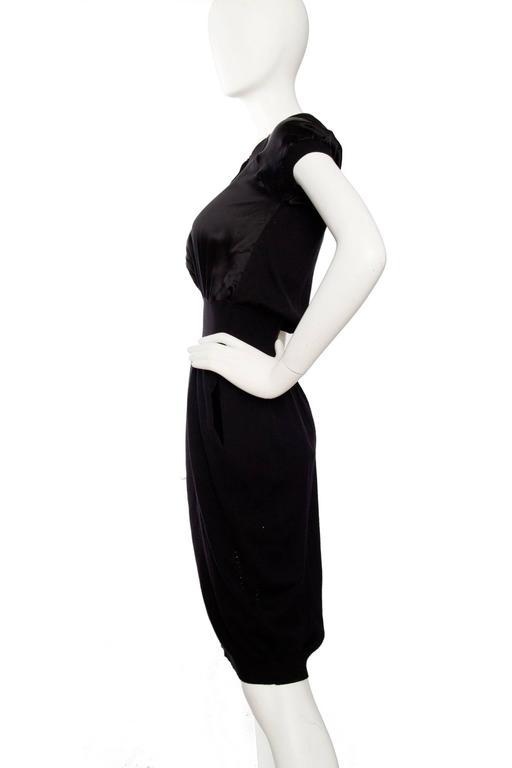 Yves Saint Laurent '08 Wool & Silk Satin Dress 3