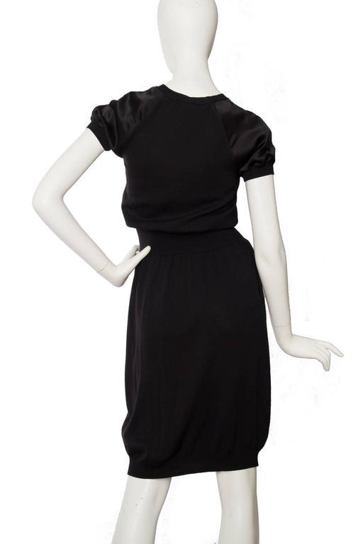 Yves Saint Laurent '08 Wool & Silk Satin Dress 4