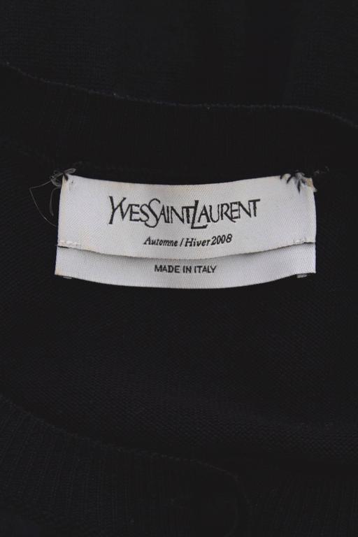Yves Saint Laurent '08 Wool & Silk Satin Dress 2