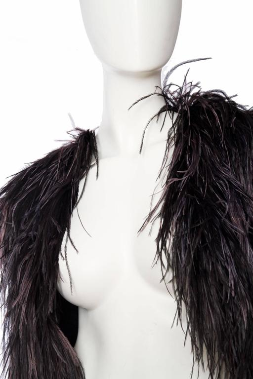 1980s Yves Saint Laurent Ostrich Feather & Sequin Bolero  8
