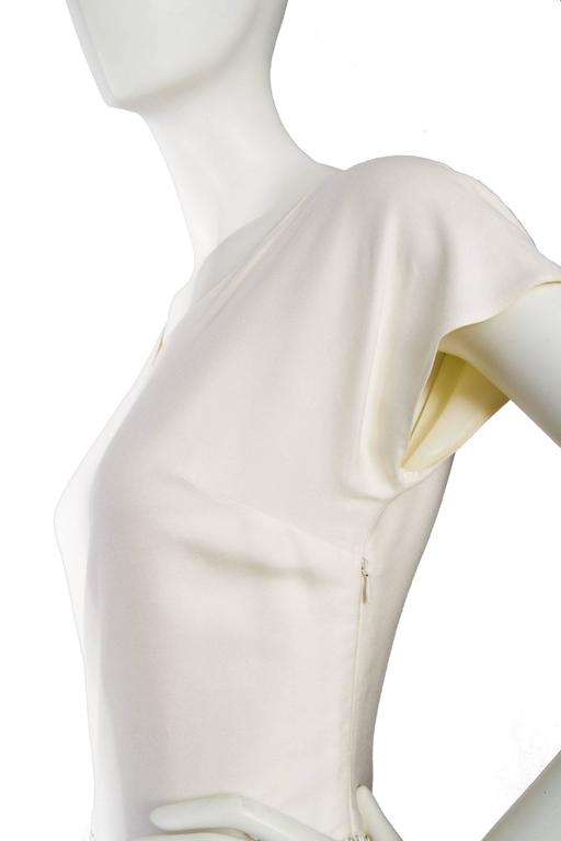 1980s Off-White Beaded Valentino Silk Dress For Sale 2
