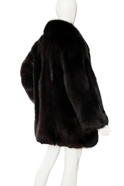 1980s Black Dyed Blue Fox Fur Coat 2