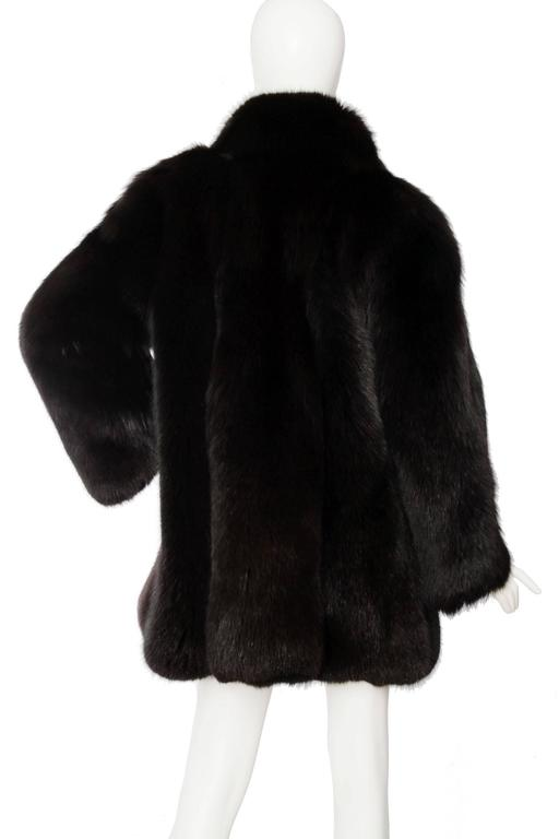1980s Black Dyed Blue Fox Fur Coat 4