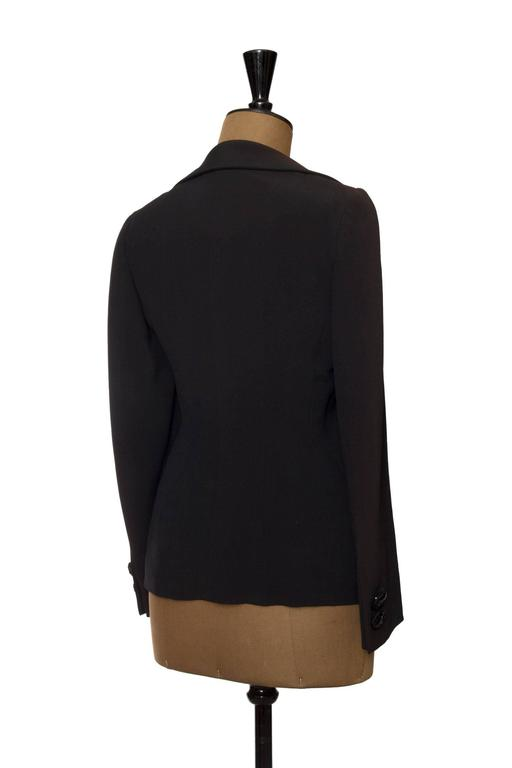 Black 1990s Moschino Couture Blazer W Attached Undergarment For Sale