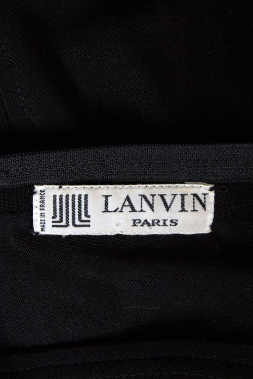 1980s Lanvin Little Black Dress W. Structured Mesh Detail 2
