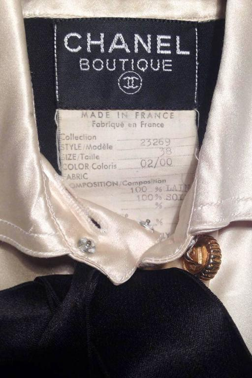 1980s Chanel Silk & Wool Cocktail Dress 2
