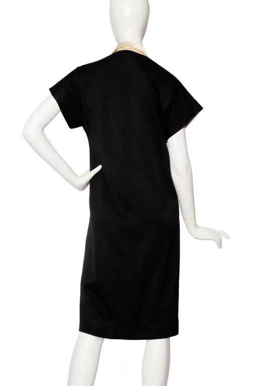 1980s Chanel Silk & Wool Cocktail Dress In Good Condition For Sale In Copenhagen, DK