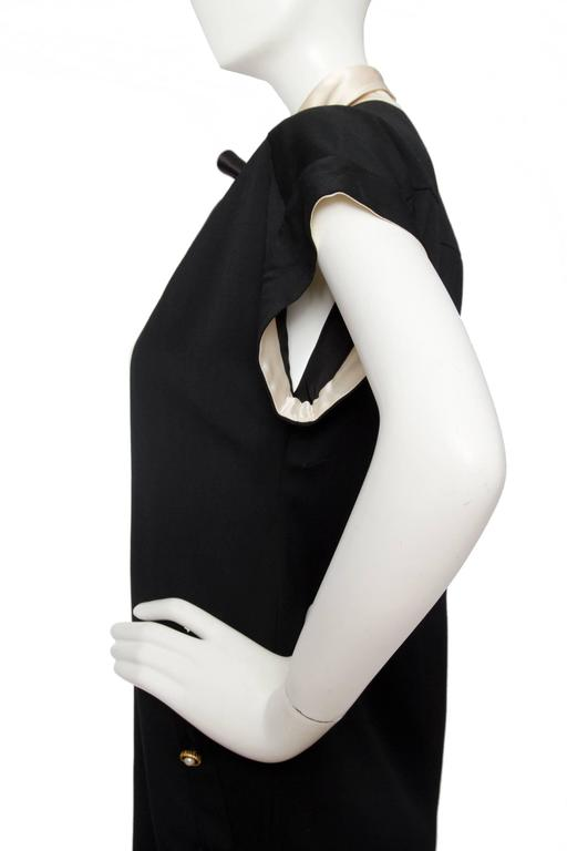 1980s Chanel Silk & Wool Cocktail Dress For Sale 3
